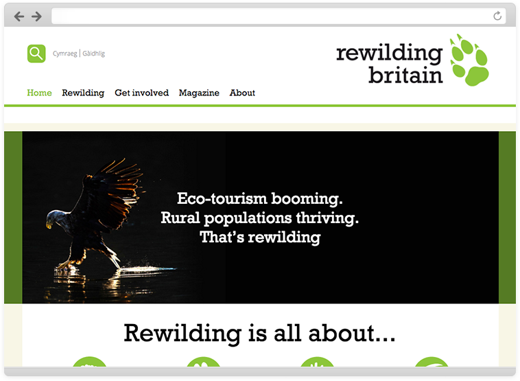 Rewilding Britain on desktop