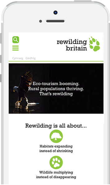 Rewilding Britain on mobile